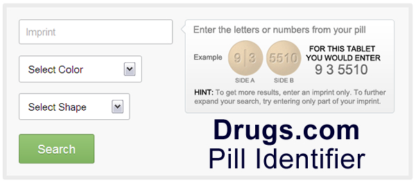 drugs.com Pill Identifier - Screenshot